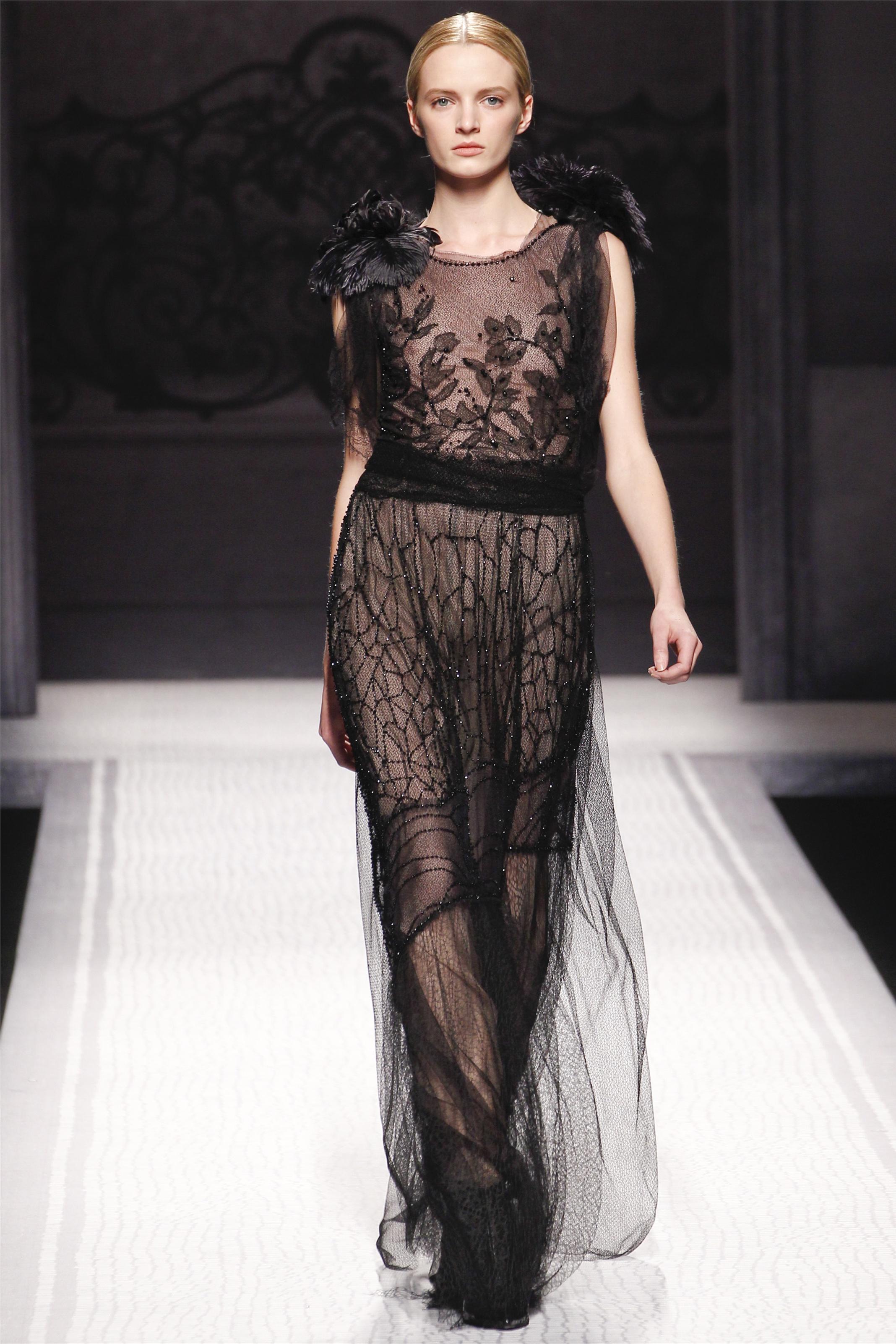 Черное прозрачное платье 4 фотография