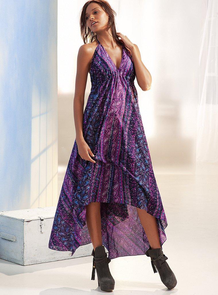 платье из атласа в горошек в пол для полеых