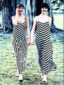 US Vogue May 1993 Patricia Hartmann and Janine Giddings by Arthur Elgort Dresses Comme des Garçons.jpg
