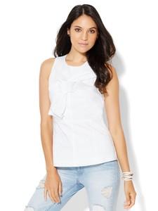 Cerelina Proesl New York & Company 7th Avenue Design Studio - Madison Stretch Shirt - Origami Bow-Detail Shell 01429311_016_av1.jpg
