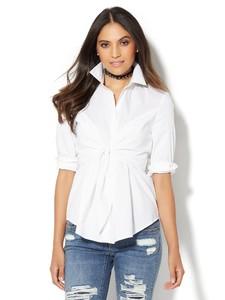 Cerelina Proesl New York & Company 7th Avenue Design Studio - Madison Stretch Shirt - Tie-Waist 00380239_016_av1.jpg