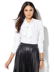 Cerelina Proesl New York & Company 7th Avenue Design Studio - Madison Stretch Shirt - White 01417982_016_av1.jpg