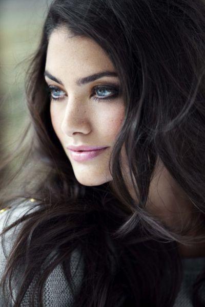 Black Hair Blue Eyes Faces Women