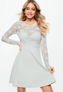 bridesmaid-grey-backless-lace-bow-detail-skater-dress (3).jpg