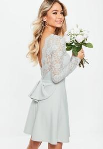 bridesmaid-grey-backless-lace-bow-detail-skater-dress.jpg