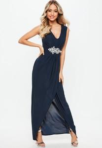 bridesmaid-navy-plunge-diamante-trim-waist-maxi-dress.jpg