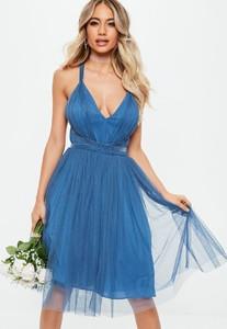 bridesmaids-blue-mesh-plunge-mini-skater-dress.jpg