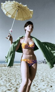 Yvonne Craig - floral bikini and umbrella.jpg
