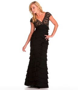 Adrianna Papell Woman Lace Tiered Gown.jpg