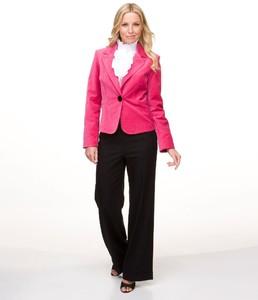 AK Anne Klein Velveteen Blazer, Ruffled Blouse & Wide-Leg Pants02986019_zi.jpg