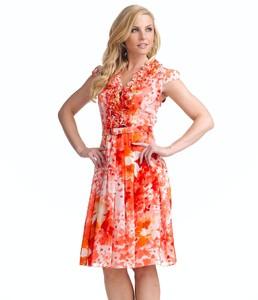 Adrianna Papell Floral-Print Chiffon Dress.jpg