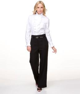 AK Anne Klein Woman Ruffled Blouse & Wide-Leg Pants02986283_zi.jpg