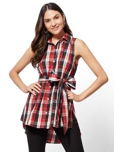 Cerelina Proesl New York & Company Plaid Hi-Lo Tunic Shirt 01427780_016.jpg