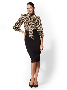 Cerelina Proesl New York & Company 7th Avenue - Twofer Sheath Dress 06140308_006_av4.jpg