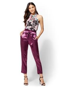Cerelina Proesl New York & Company 7th Avenue - Floral Ruffled Halter Blouse 01411767_242_av4.jpg