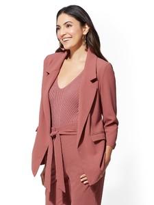 Cerelina Proesl New York & Company 7th Avenue - Soft Pink Blazer 02254916_968.jpg