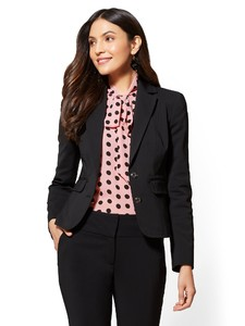 Cerelina Proesl New York & Company 7th Avenue - Topstitched Two-Button Jacket - All-Season Stretch 01044666_006.jpg