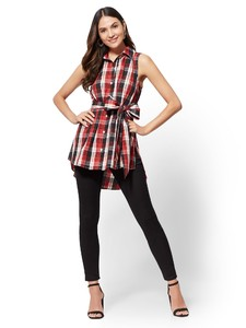 Cerelina Proesl New York & Company Plaid Hi-Lo Tunic Shirt 01427780_016_av4.jpg
