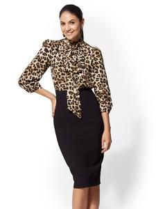 Cerelina Proesl New York & Company 7th Avenue - Twofer Sheath Dress 06140308_006.jpg
