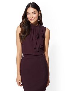 Cerelina Proesl New York & Company Sleeveless Bow Blouse 00385771_969.jpg