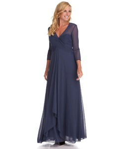 Alex Evenings Woman Mesh Ruched Gown.jpg