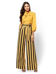 Cerelina Proesl New York & Company Stripe Paperbag-Waist Palazzo Pant 06191015_167_av4.jpg