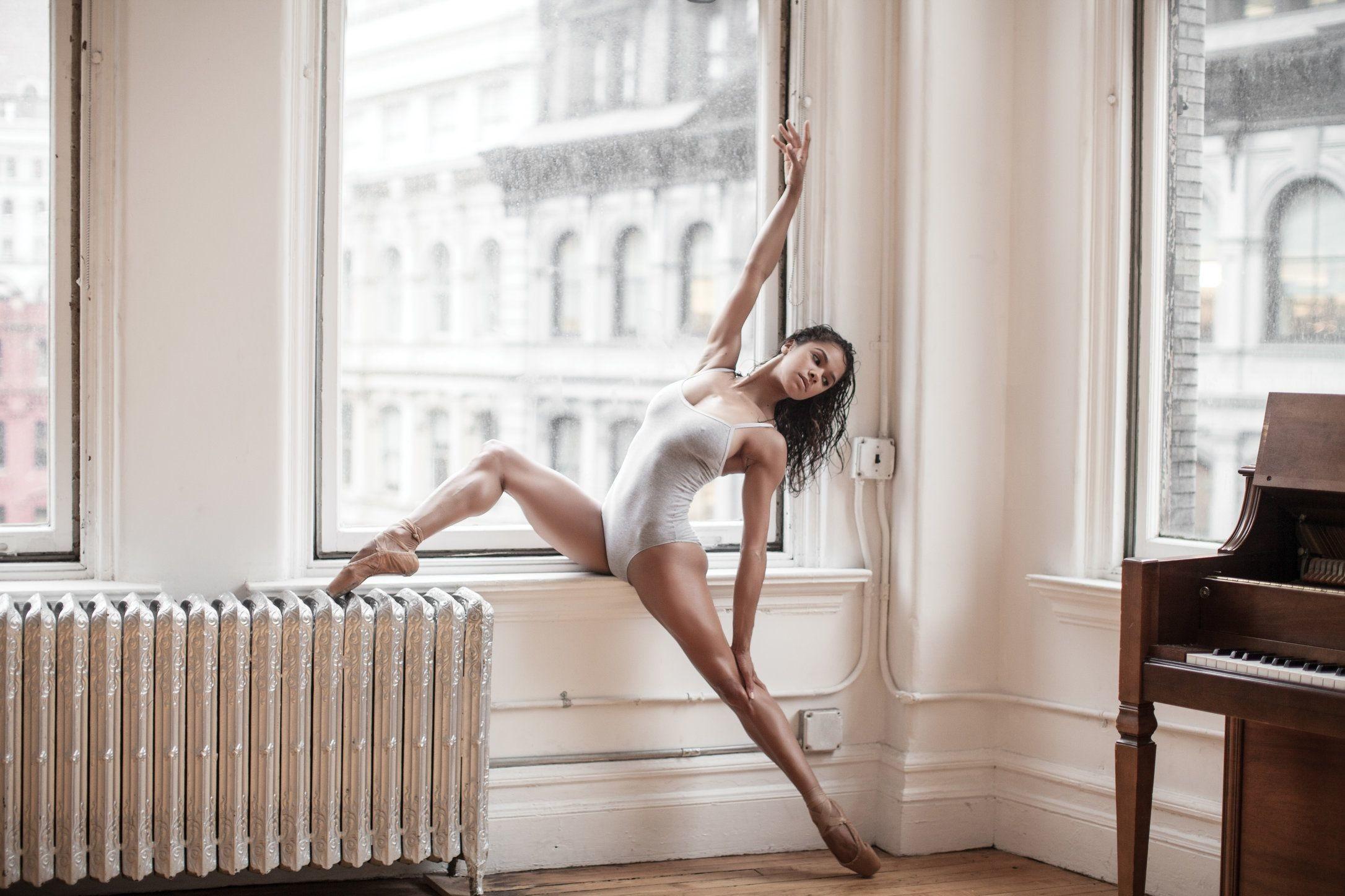 фото секси балерина снежком, морозцем
