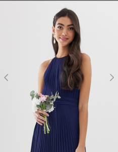 Screenshot_2019-07-09 TFNC Tall bridesmaid exclusive high neck pleated maxi dress in navy ASOS(2).png