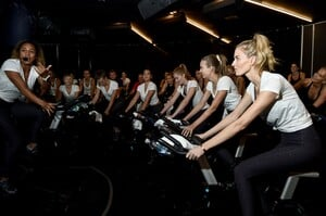 [1175607862] Victoria's Secret Angel Cycle To End Cancer Hosted By Angels Martha Hunt, Josephine Skriver, Alexina Graham, Chey Carty, Gizele Oliveira, Josie Conseco, Lorena Duran And Sofie Rovenstine At Flywhee.jpg
