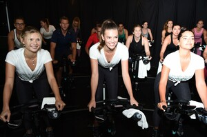 [1175607857] Victoria's Secret Angel Cycle To End Cancer Hosted By Angels Martha Hunt, Josephine Skriver, Alexina Graham, Chey Carty, Gizele Oliveira, Josie Conseco, Lorena Duran And Sofie Rovenstine At Flywhee.jpg