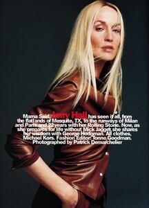PIPOCA - Harper's Bazaar US (August 1999) - Jerry Hall - 001.jpg