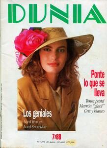 DUNIA-Amanda Masters-Spanish DUNIA, # 252 Week from March 28 to April 10, 1988.jpg