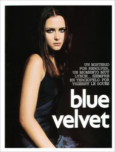 Vogue Spain (November 2001) - Blue Velvet - 001.jpg