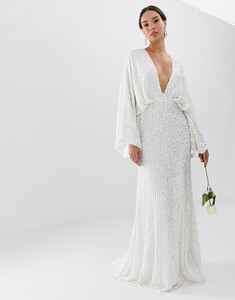ASOS EDITION sequin kimono sleeve wedding dress 'White' 001.jpeg