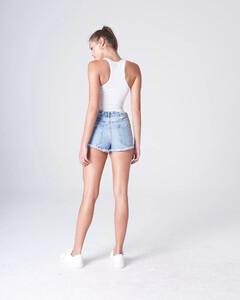 White Plunging Bodysuit Rayon Jersey.jpg