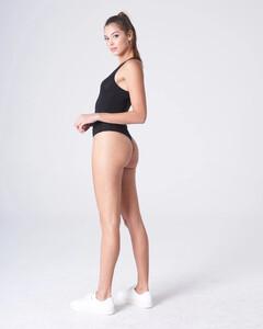 Black Plunging Bodysuit Rayon Jersey_0003.jpg
