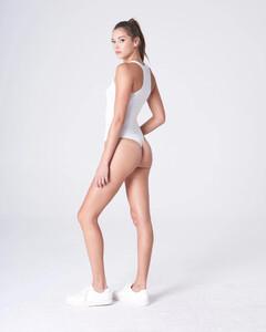 White Plunging Bodysuit Rayon Jersey_0004.jpg
