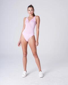 Pink Plunging Bodysuit Rayon Jersey_0002.jpg