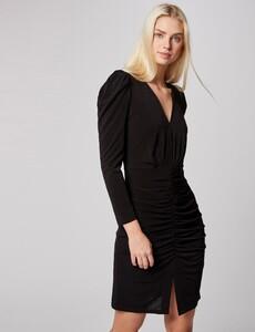 robe-ajustee-avec-fronces-noir-femme-or-32536300862240100.jpg