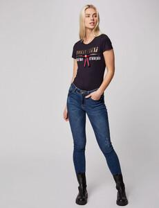 t-shirt-manches-courtes-a-inscription-marine-femme-d2-32536300846810301.jpg