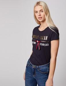 t-shirt-manches-courtes-a-inscription-marine-femme-or-32536300846810301.jpg